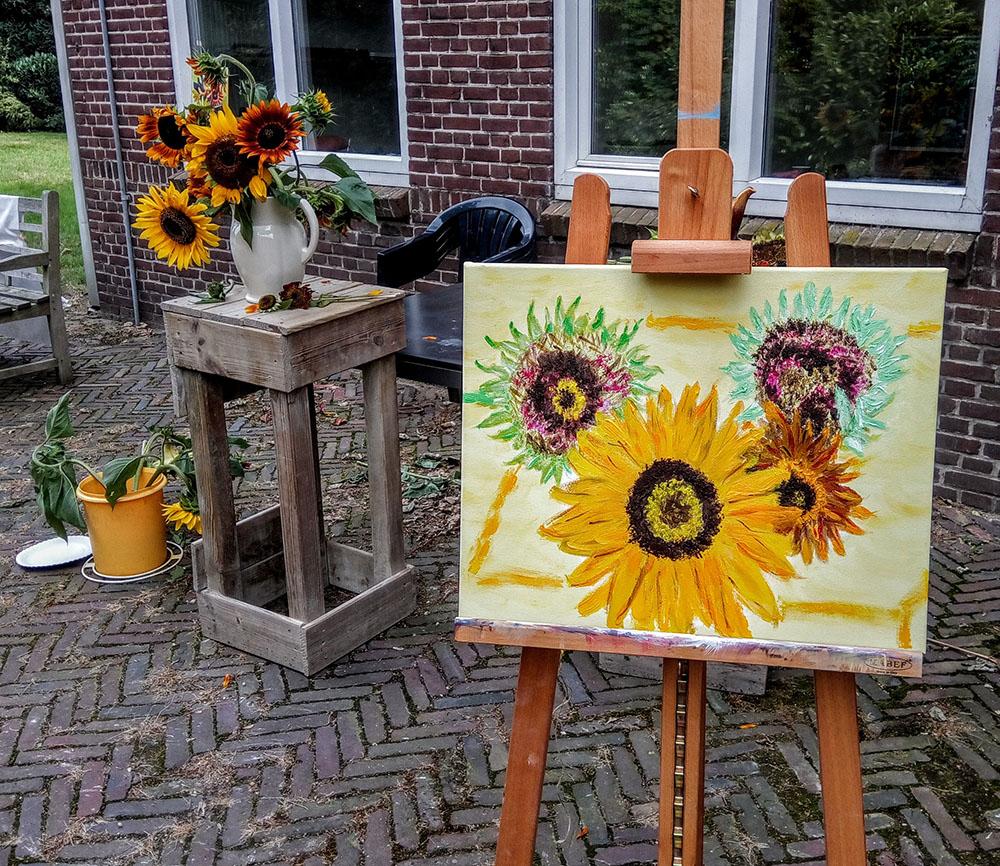11 ws zonnebloem schilderen