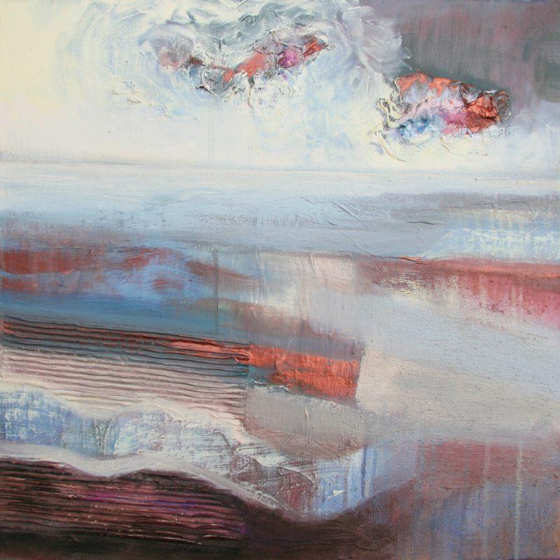 new horizons acryl op doek 50 x 50 cm